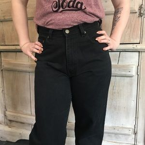 Vintage Black High Waisted Mom Jeans Tapered 6